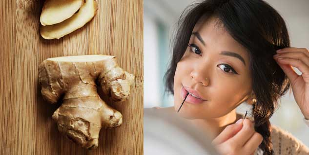 ginger for hair in hindi
