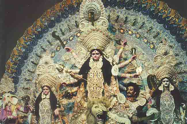 Durga maa images black and white dress