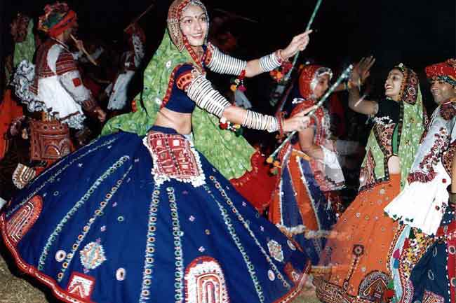 Multi-coloured Ghagra or its modern versions
