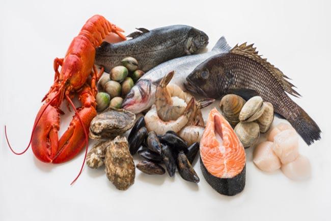 मछली, बीफ व सीप