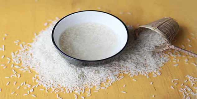 rice water for skin in hindi