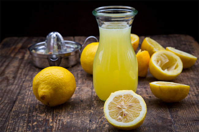 Lemon juice for toe wax