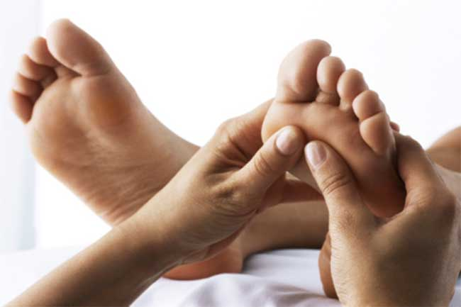 Regular foot massage