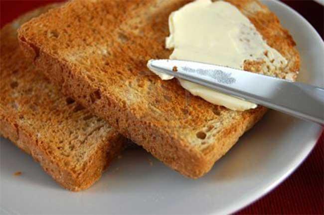 Toast butter