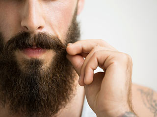 Man's facial hair also expressess about his personality