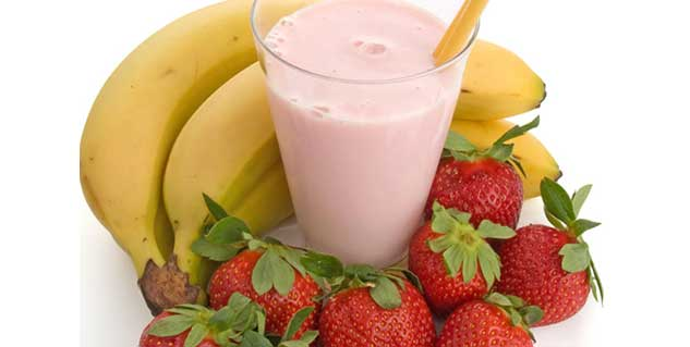 strawberry banana smoothie in hindi