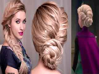 Stylish hairstyle for dirty hair– Up twist