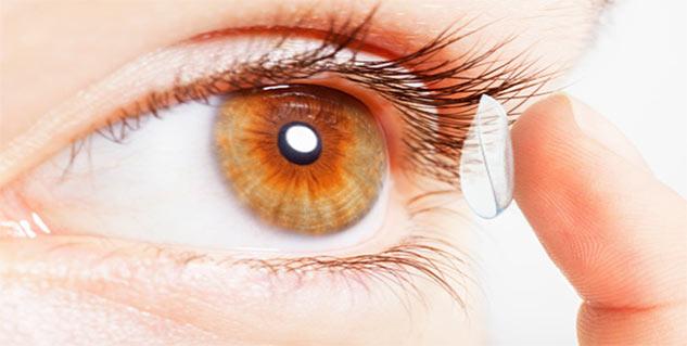 contact lens in hindi