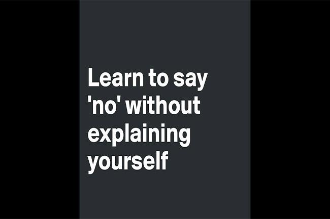 ना कहना सीखें