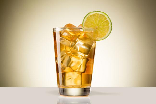 Orange and mint iced tea