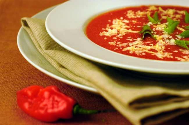 मिर्च से बना सूप