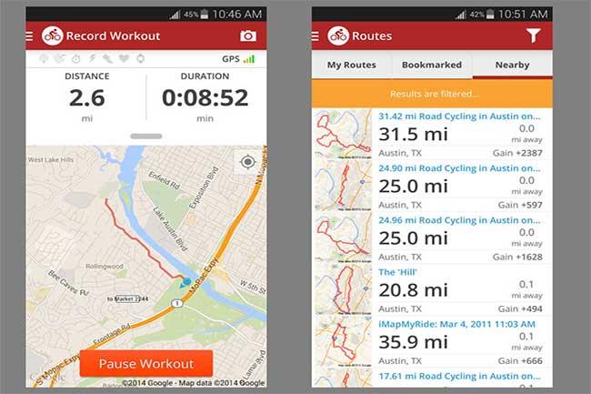 मैप माई राइड (Map My Ride)