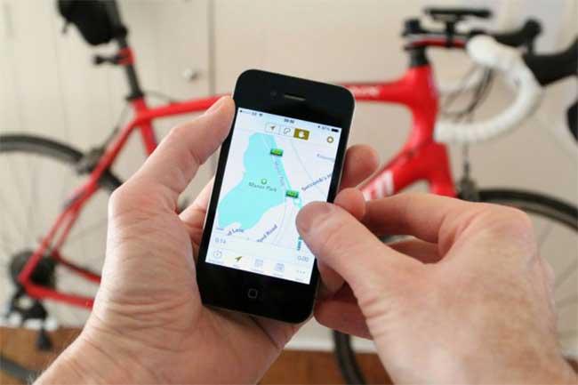 साइकलिंग के लिये मोबाइल एप