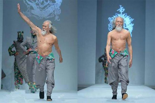 फैशन मॉडल वैंग डिशून (70 साल)