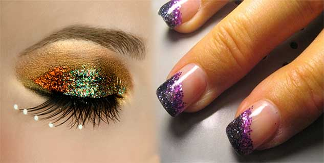 glitter makeup in hindi