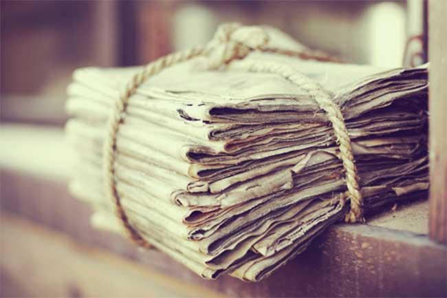 पुराने अखबारों का प्रयोग