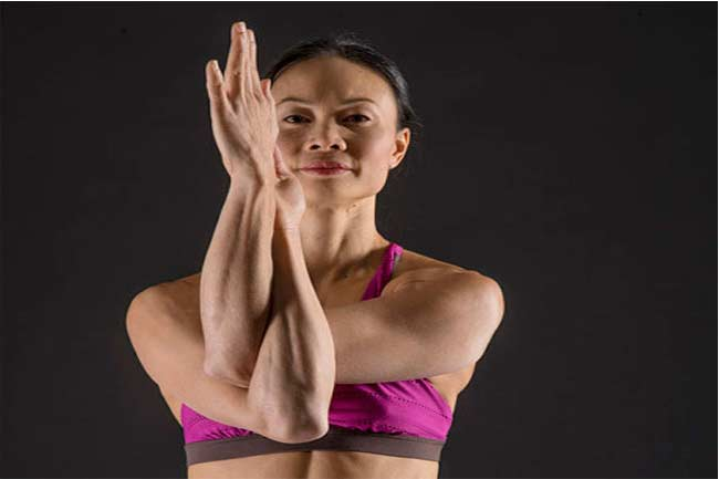 Eagle arms (Garudasana arms)