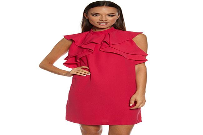 फ्रिल ड्रेस