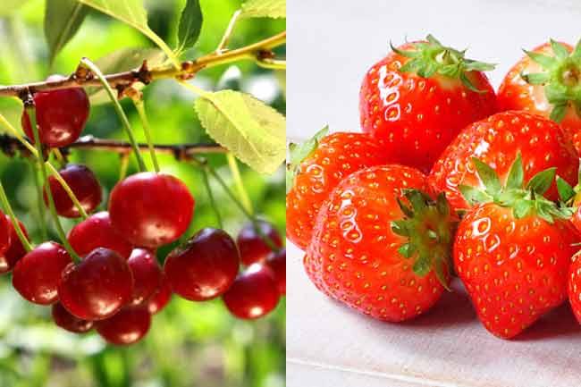 स्ट्रॉबेरी, लेमन फेस पैक और चेरी पील ऑफ मास्क