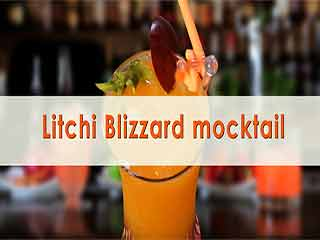 Litchi blizzard mocktail