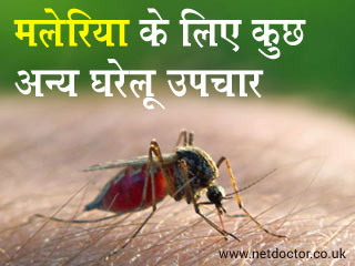मलेरिया के लिए कुछ अन्य घरेलू उपचार
