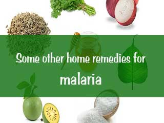 Some other home remedies for malaria