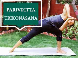 Ashtang Yoga - Parivritta Trikonasana