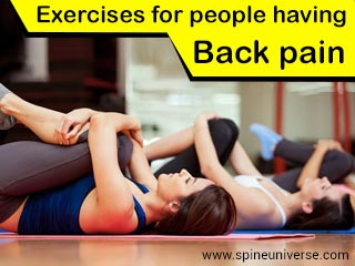 Exercises for people having back pain