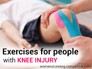 Exercises for people with knee injury