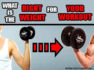 What is the right weight for your workout