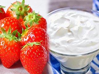 स्ट्रॉबेरी और दही के मिश्रण से त्वचा को होते हैं ये लाभ
