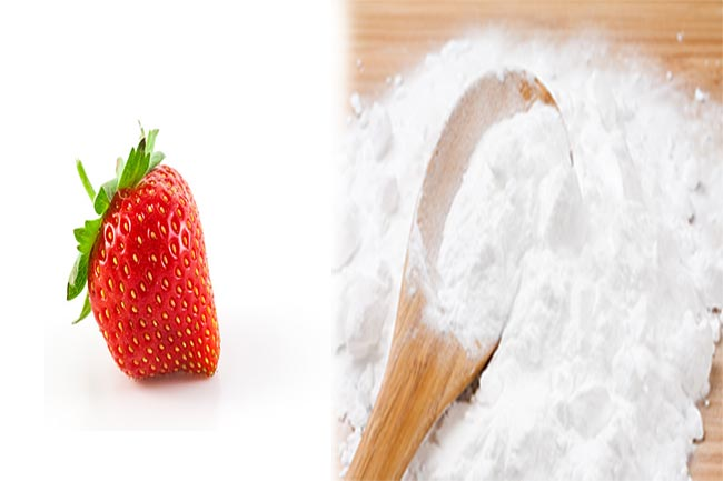 Use baking soda and strawberries