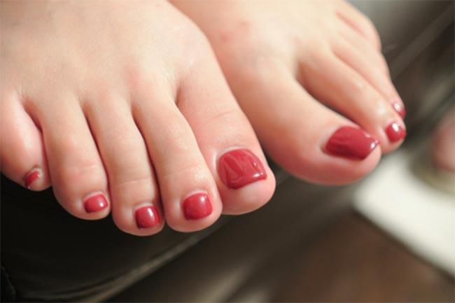 Between toes