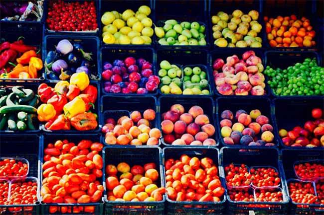 फल, सब्जियां और अनाज