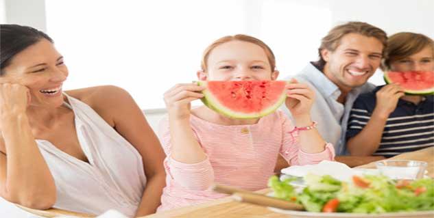 woman eating watermelon in hindi