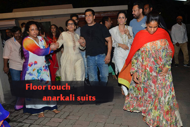 Floor touch anarkali suits