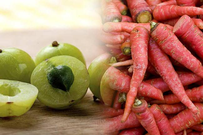 आंवला और गाजर