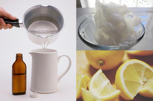 Lemon juice, coconut oil and glycerin mask