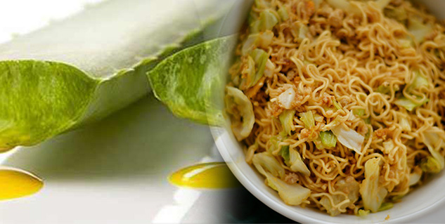 aloe vera and noodles in hindi