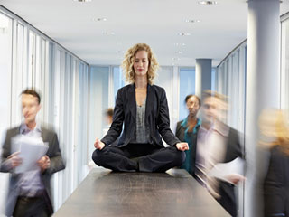 Take yoga break in office feel the difference