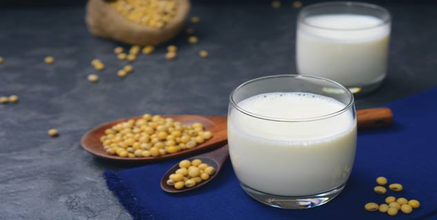 soy milk in hindi