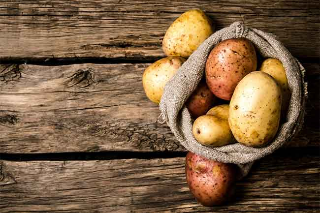Potato mask for dull hair