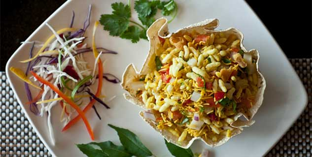 Healthy bhel puri recipe