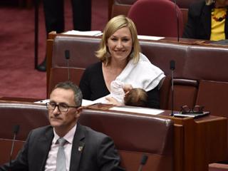 संसद की कार्रवाही में सांसद मां ने कराया स्तनपान, रचा इतिहास