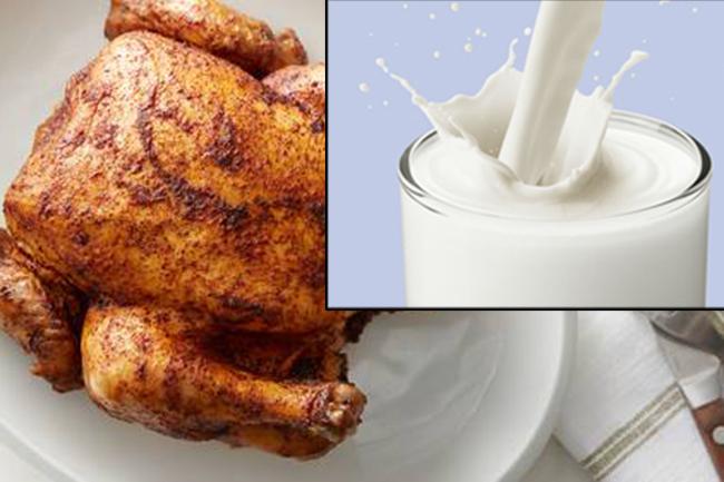 दूध और मांस