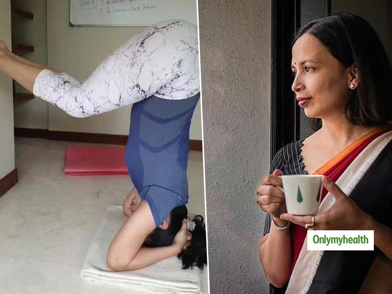 Nutritionist Rujuta Diwekar Practices Shirsasana Or Head Stand. Talks About Preparation Steps For Beginners