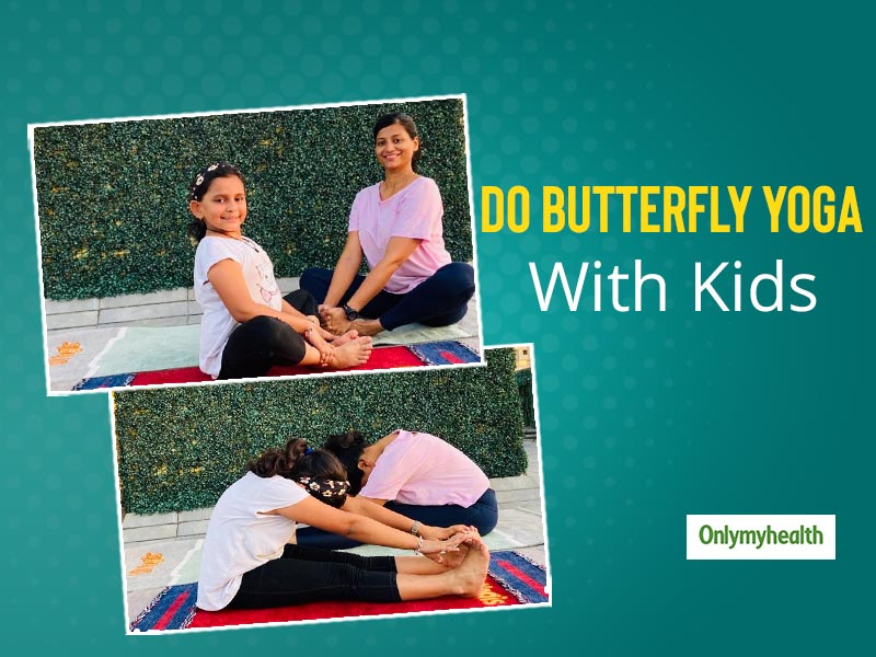 Simple Yoga Poses Reflecting The Different Stages Of A Growing Butterfly