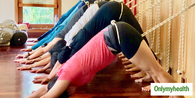 rope wall yoga