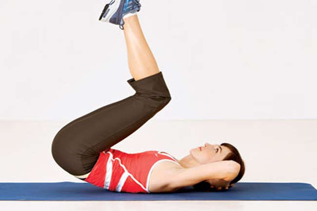 10 Reps of Reverse Crunches