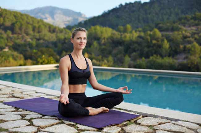 Sukhasana (easy posture)